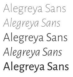 google fonts alegreya sans
