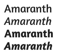 google fonts amaranth