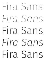 google fonts fira sans