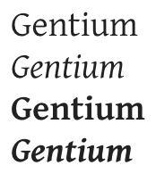 google fonts gentium