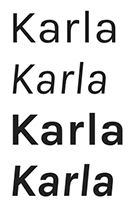 google fonts karla