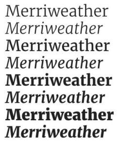 google fonts merriweather