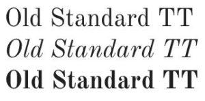 google fonts old standard TT