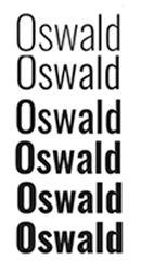 google fonts oswald