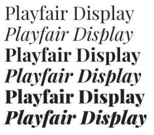google fonts playfair display