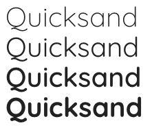 google fonts quicksand