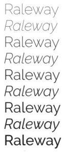 google fonts raleway