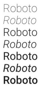 google fonts roboto