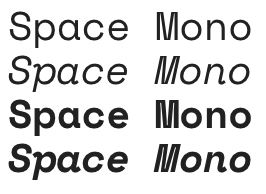 google fonts space mono