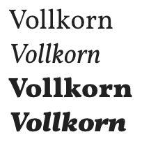 google fonts vollkorn