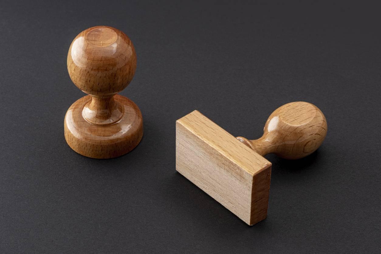 tampon encreur bois